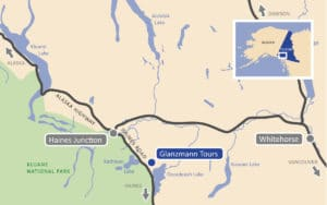 Map Yukon Glanzmann Tours