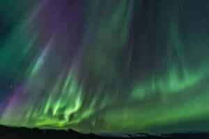 Aurora Borealis fotografiert im Yukon Kanada auf Fotoreisen zum Polarkreis