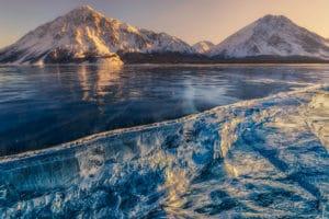 Winter Landschaftsfotografie Workshops und Fotoreisen im Yukon. Am Kathleen Lake im Kluane Park mit Profi unterwegs.