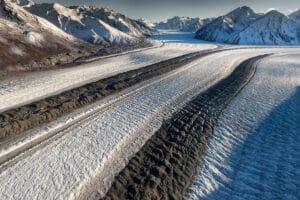 Im Kluane National Park über dem Kaskawulsh Gletscher Foto Luftaufnahme Aerial Photography Icefields Sightseeing Flights Rundflüge