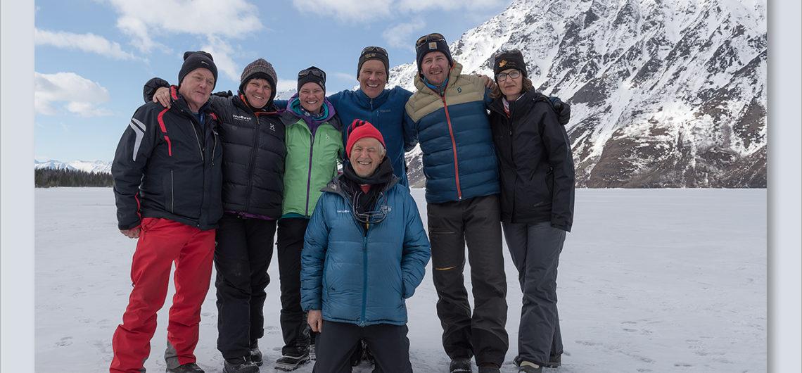 Schneeschuhtour Gruppe Katleen Lake