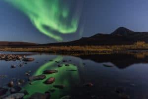 Nordlichter Fotoreisen Spiegelung Yukon Kanada mit Beat Glanzmann