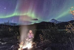 Nordlichter beobachten und fotografieren auf Zelt- Wander- und Fotoreise im Yukon und Alaska unterwegs
