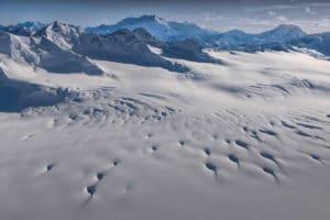 Mount Logan höchster Berg von Kanada und Eisfelder im Kluane National Park Kanada fotografiert vom Gletscher-Rundflug